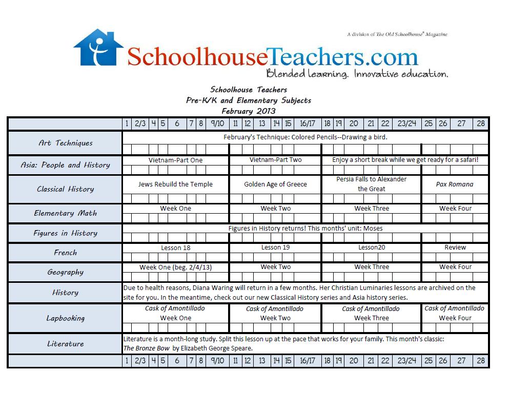 PreK-Elementary Checklist image