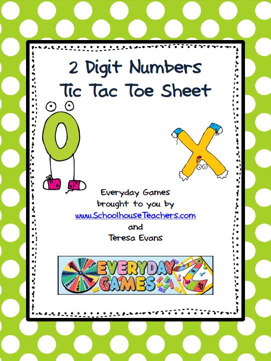 Elementary geography schoolhouse teachers 2 digit place value tic tac toe sheet fandeluxe Gallery
