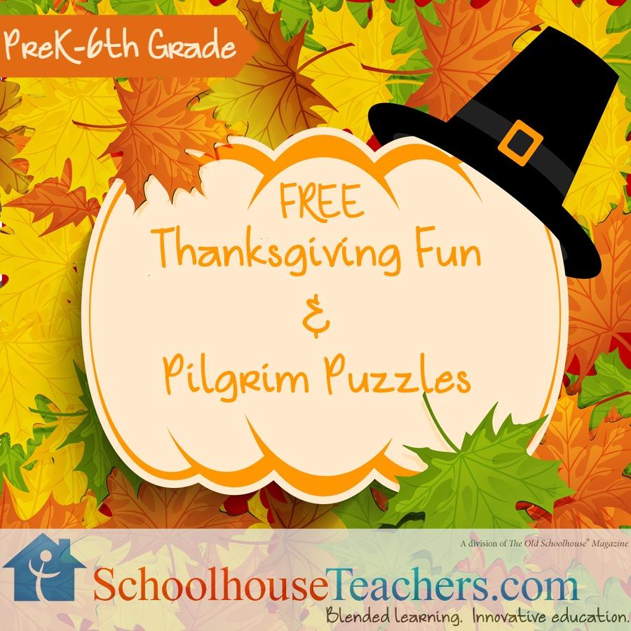 FREE Thanksgiving Fun and Pilgrim Puzzles