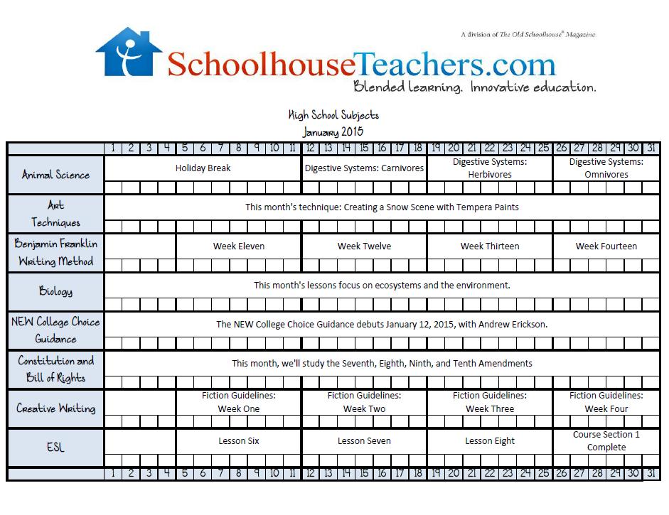 January High School Checklist image