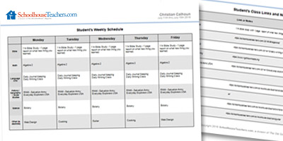 custom schedule builder schoolhouseteachers com
