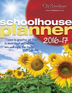 2016-2017 Schoolhouse Planner