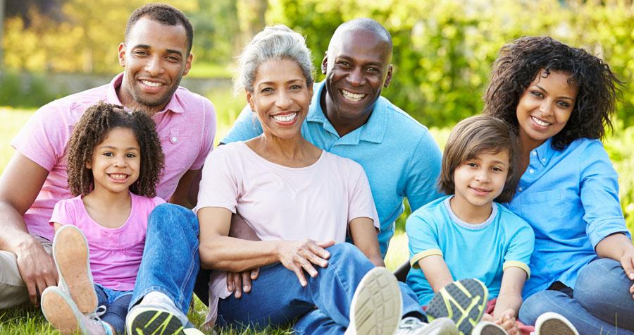 beautiful homeschool family smiles