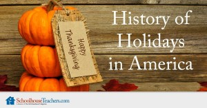 history of holidays in USA