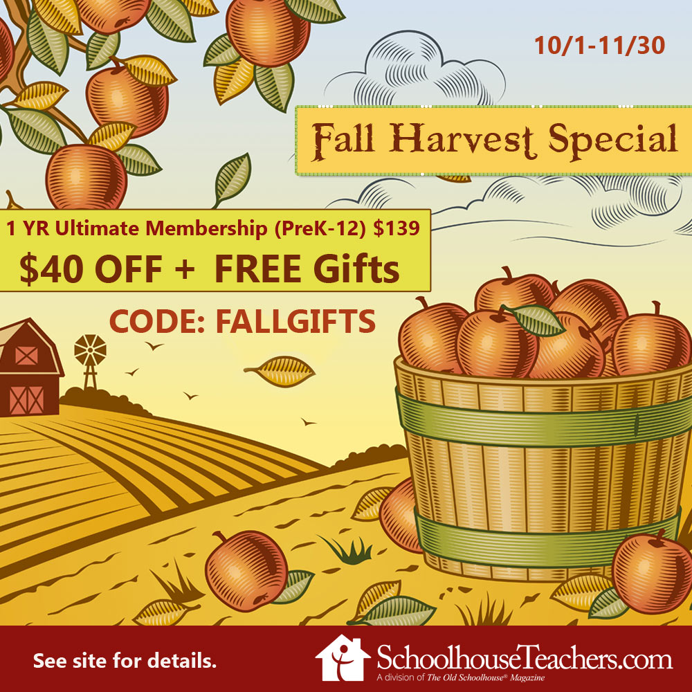 Harvest Special at Schoolhouse Teachers