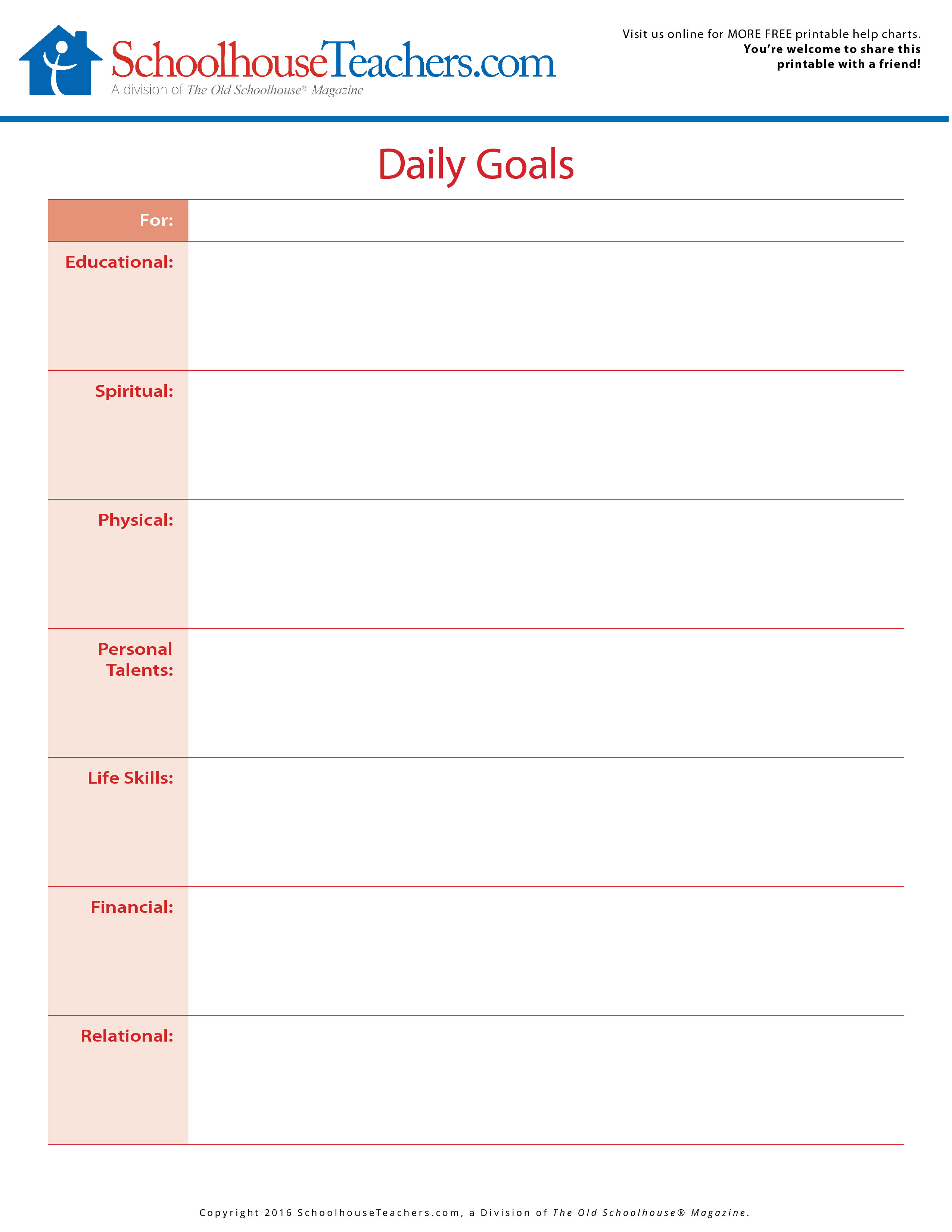 homeschool printable schedules planners academic goals for the year