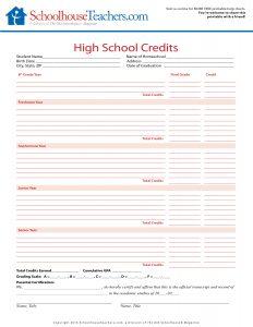 ST-Highschool Credits