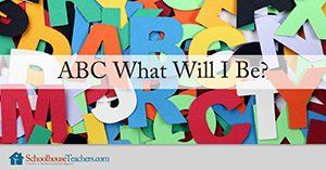 Homeschool Language Arts ABC What Will I Be