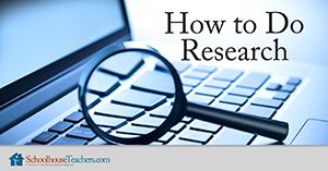 Homeschool Language Arts How to Do Research