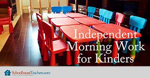 Homeschool Language Arts Independent Morning Work for Kinders