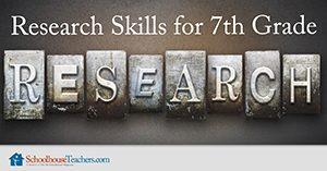Homeschool Language Arts Research Skills 7th Grade
