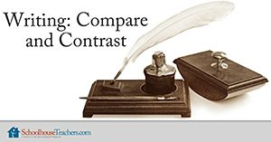 Homeschool Language Arts Writing Compare and Contrast